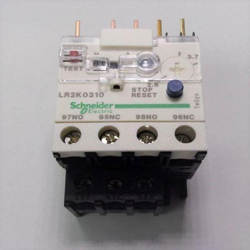 LR2K0310-Thermal Overload Relay 2.6-3.7 Amps K-Line