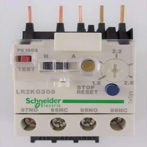 LR2K0308-Thermal Overload Relay 1.8-2.6 Amp K-Line